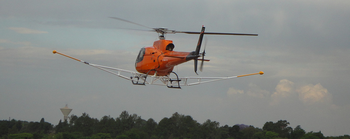Helicopter with Pole Mounts