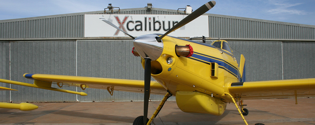Sky Tractor in front of Hanger